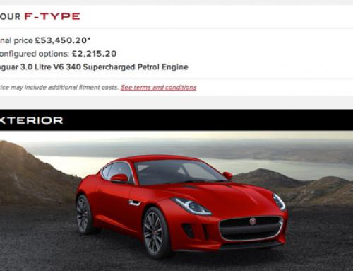 Configurator: Jaguar F-Type Coupe