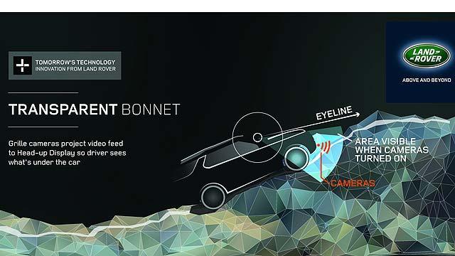 Land Rover Discovery Vision Concept Transparent Bonnet