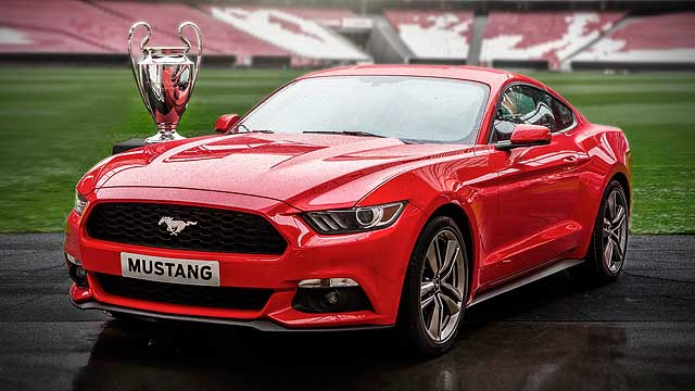 Ford Mustang Champions League trophy