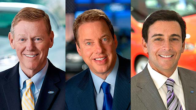 Mark Fields Alan Mulally Bill Ford