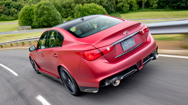 Infiniti drops a Nissan GT-R engine into a Q50 saloon. Result: explosive. Make it already, Infiniti.