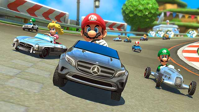 Mario gets a merc mario kart 8 to feature mercedes benz for Mercedes benz franchise