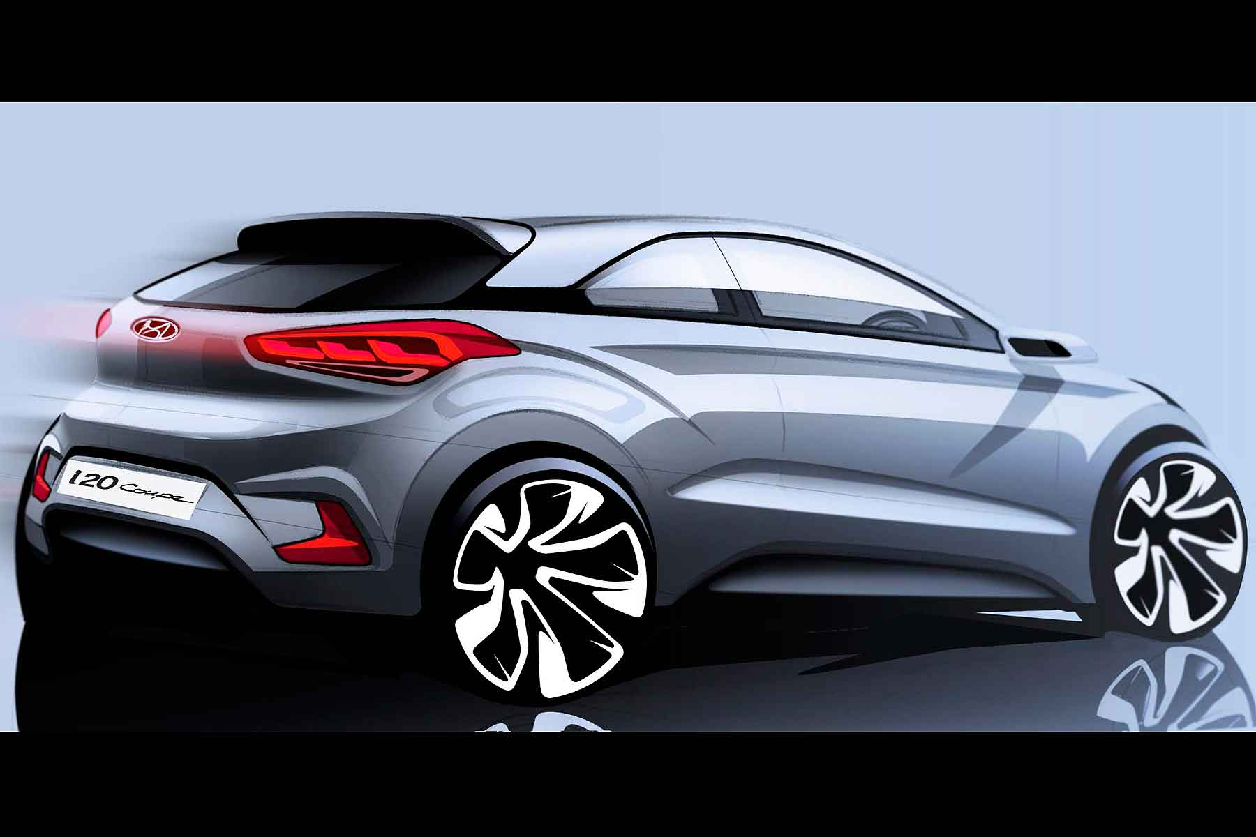 hyundai teases surprise new i20 coupe motoring research. Black Bedroom Furniture Sets. Home Design Ideas