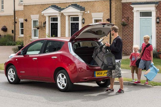 Nissan Leaf school run