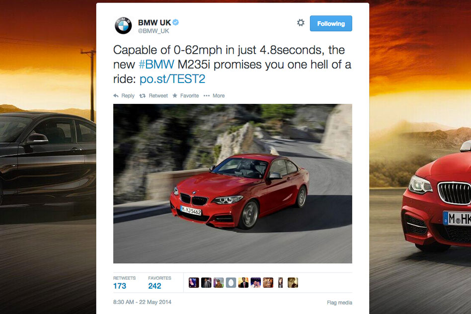 BMW ASA Tweet