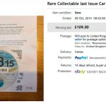 Online auction for a 2015 tax disc