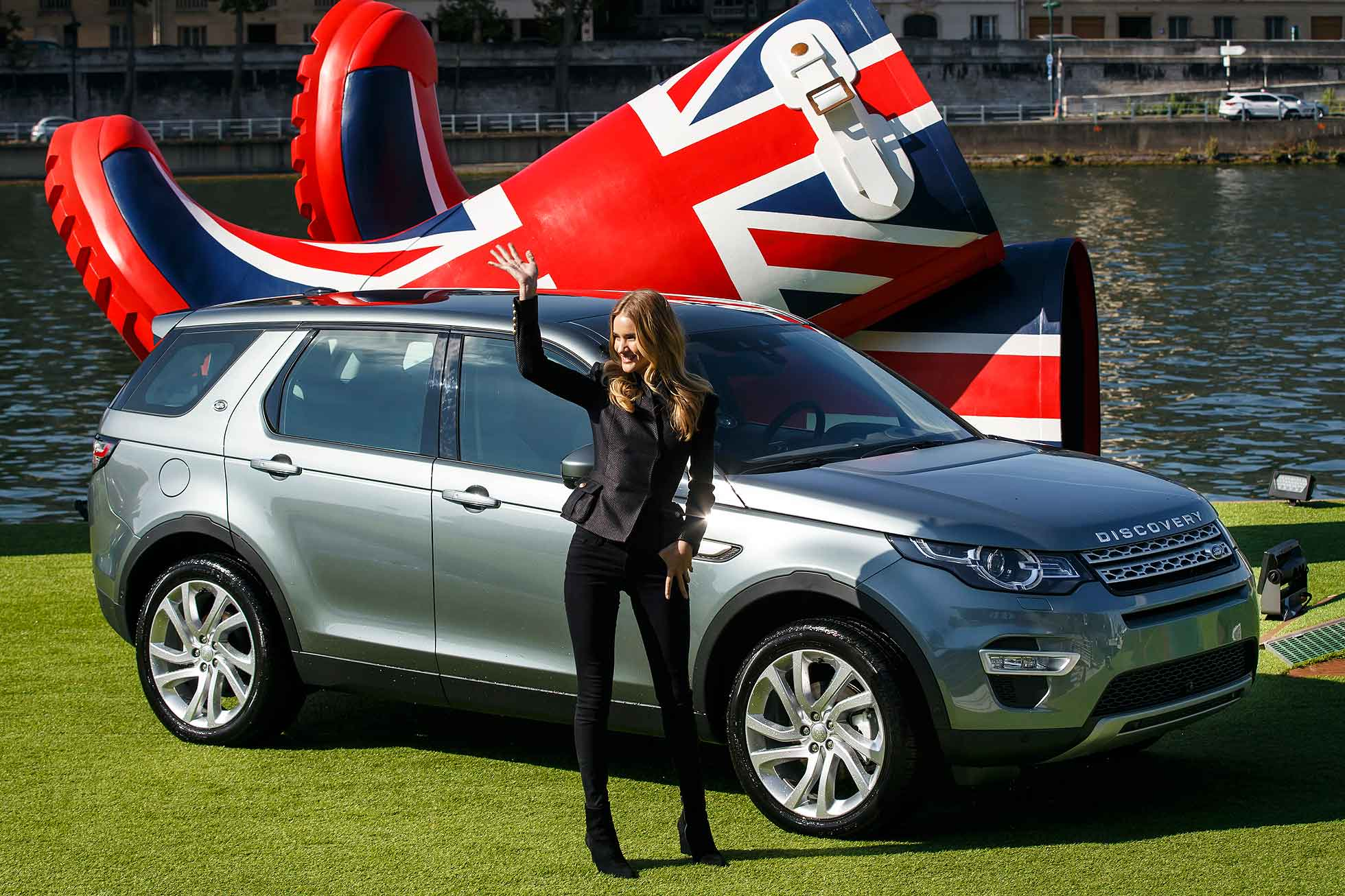 The Land Rover Discovery Sport was revealed by supermodel Rosie Huntington-Whiteley