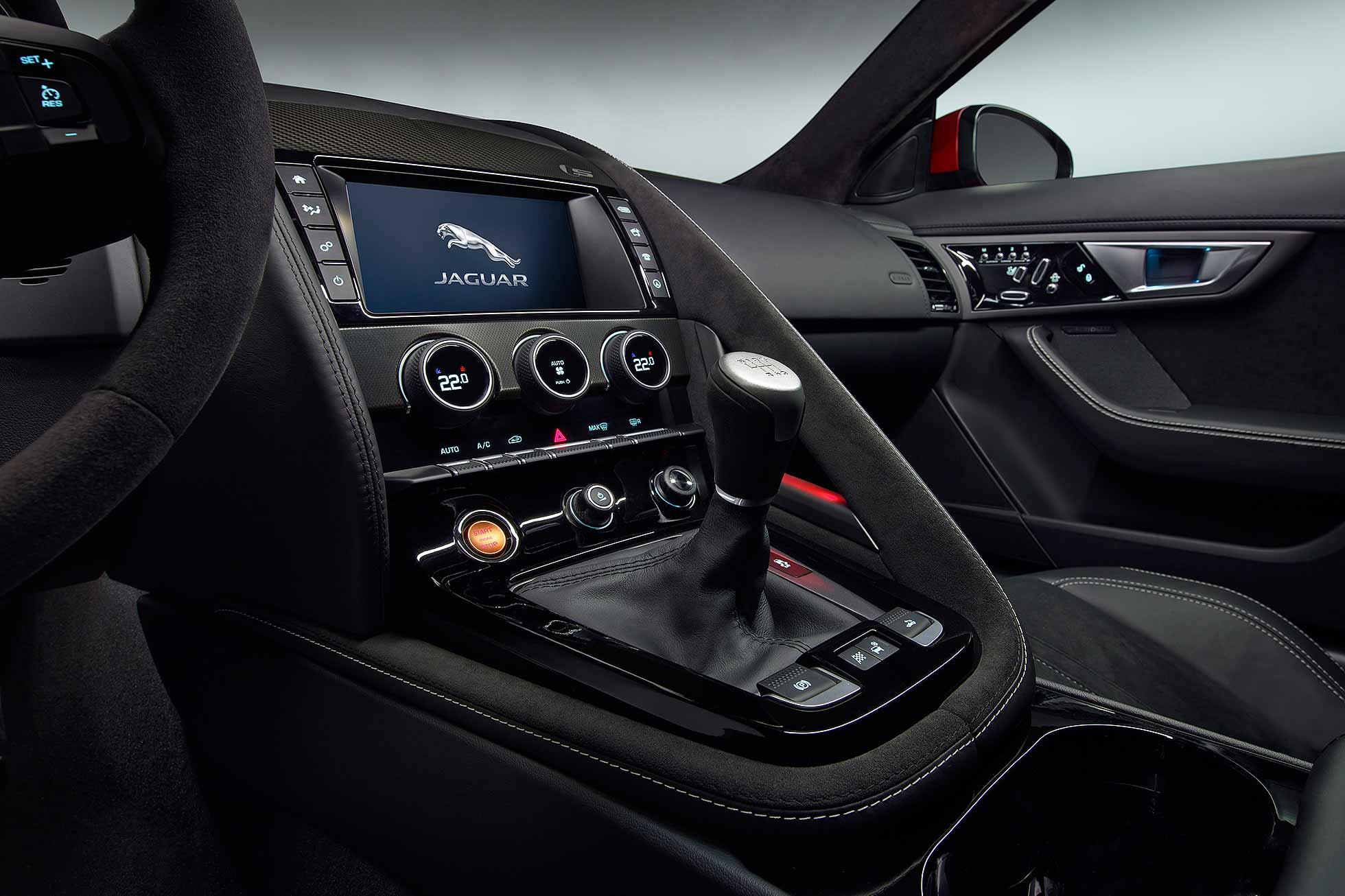 Jaguar F-Type 16MY manual gearbox