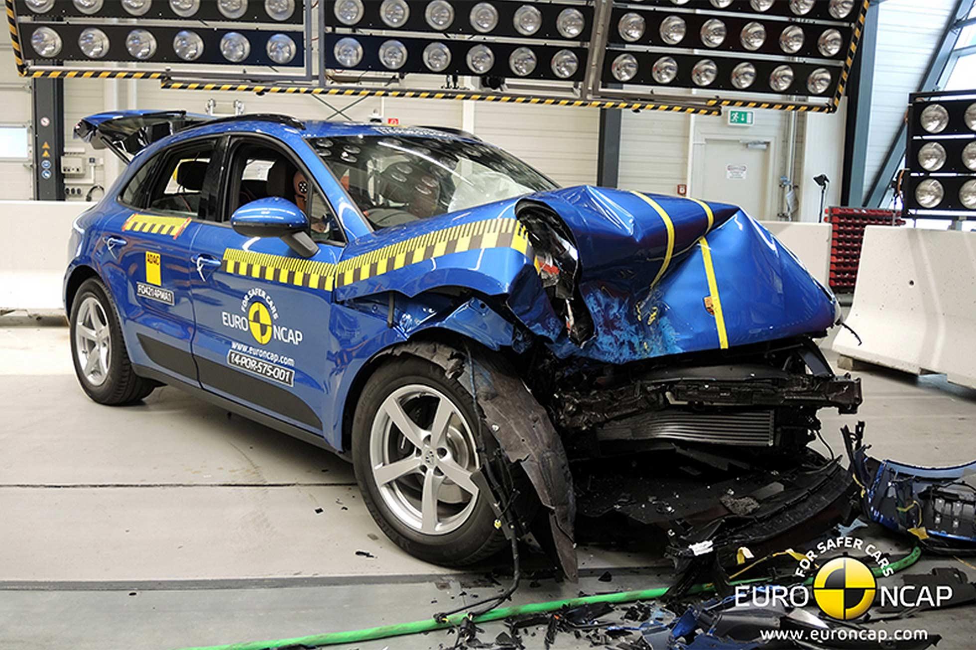 Porsche Macan Euro NCAP crash test