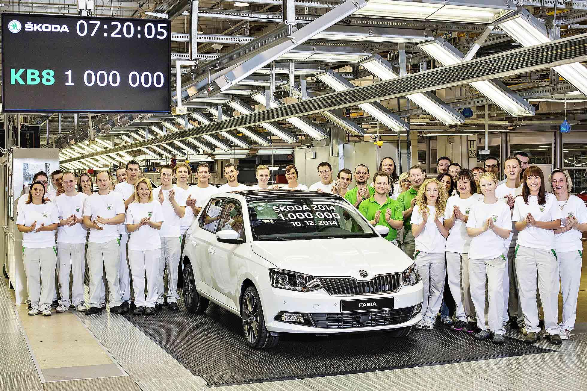 Skoda builds 1 million in 2014