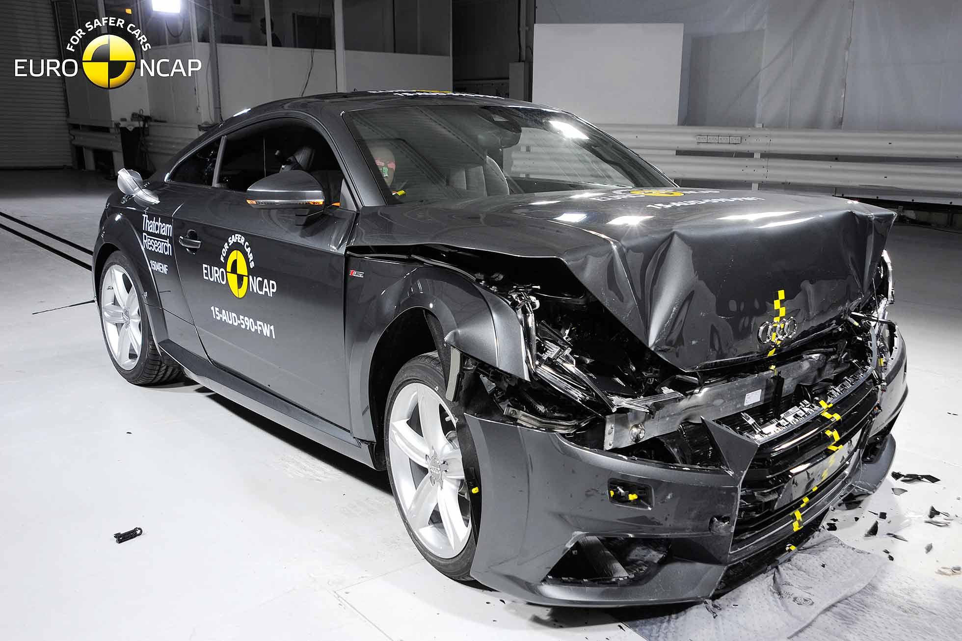 audi tt scores four stars in euro ncap crash test motoring research. Black Bedroom Furniture Sets. Home Design Ideas
