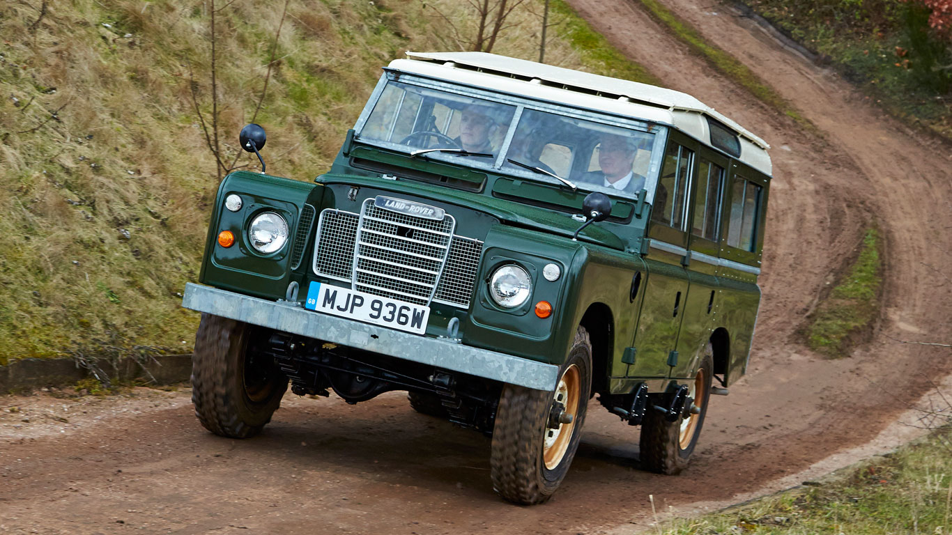 Driving a Series 2 off road at Solihull