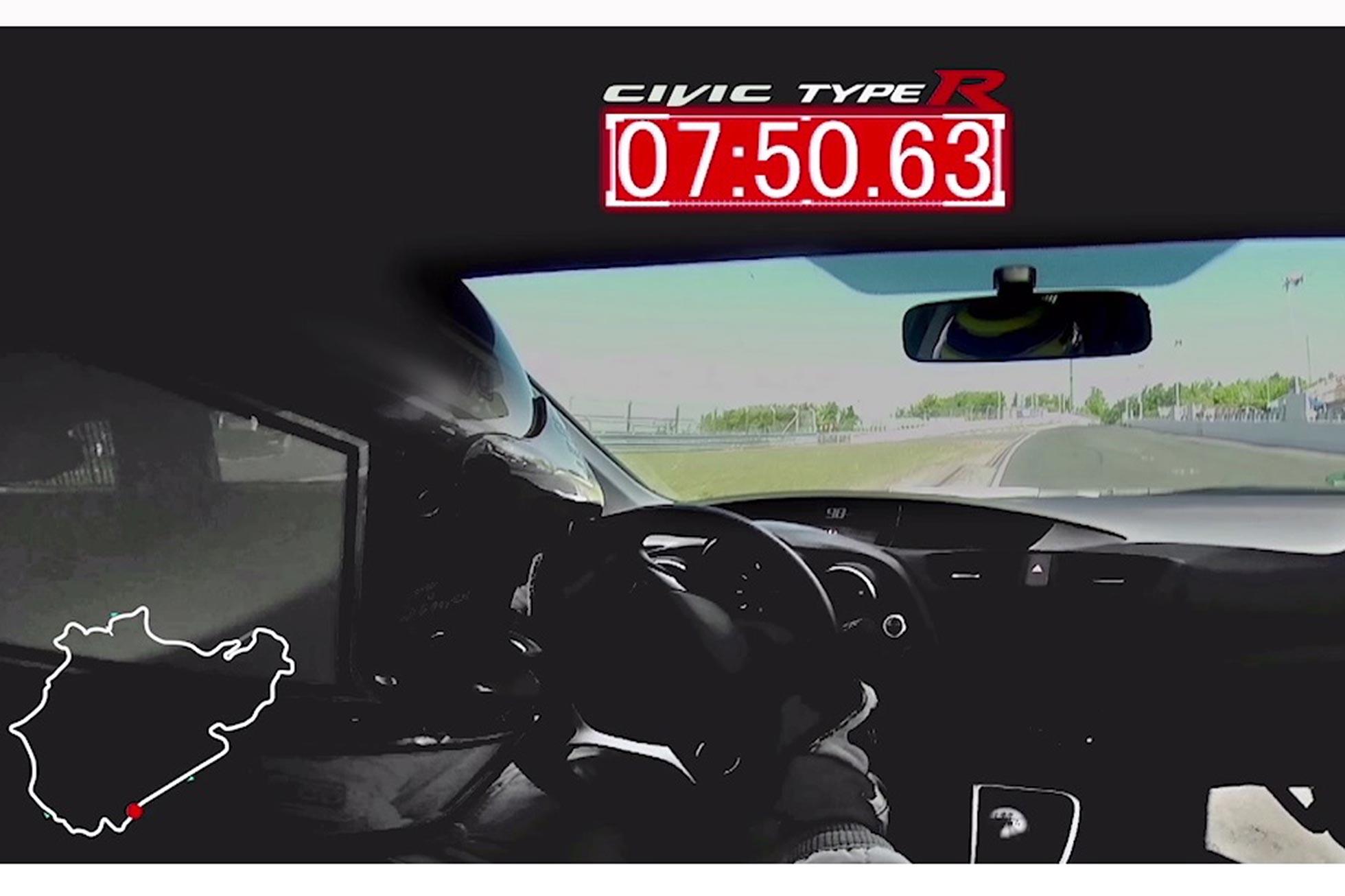 Honda Civic Type R sets 7m50 63s Nurburgring record