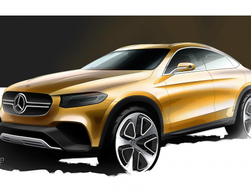 Mercedes-Benz GLC Coupe design study revealed