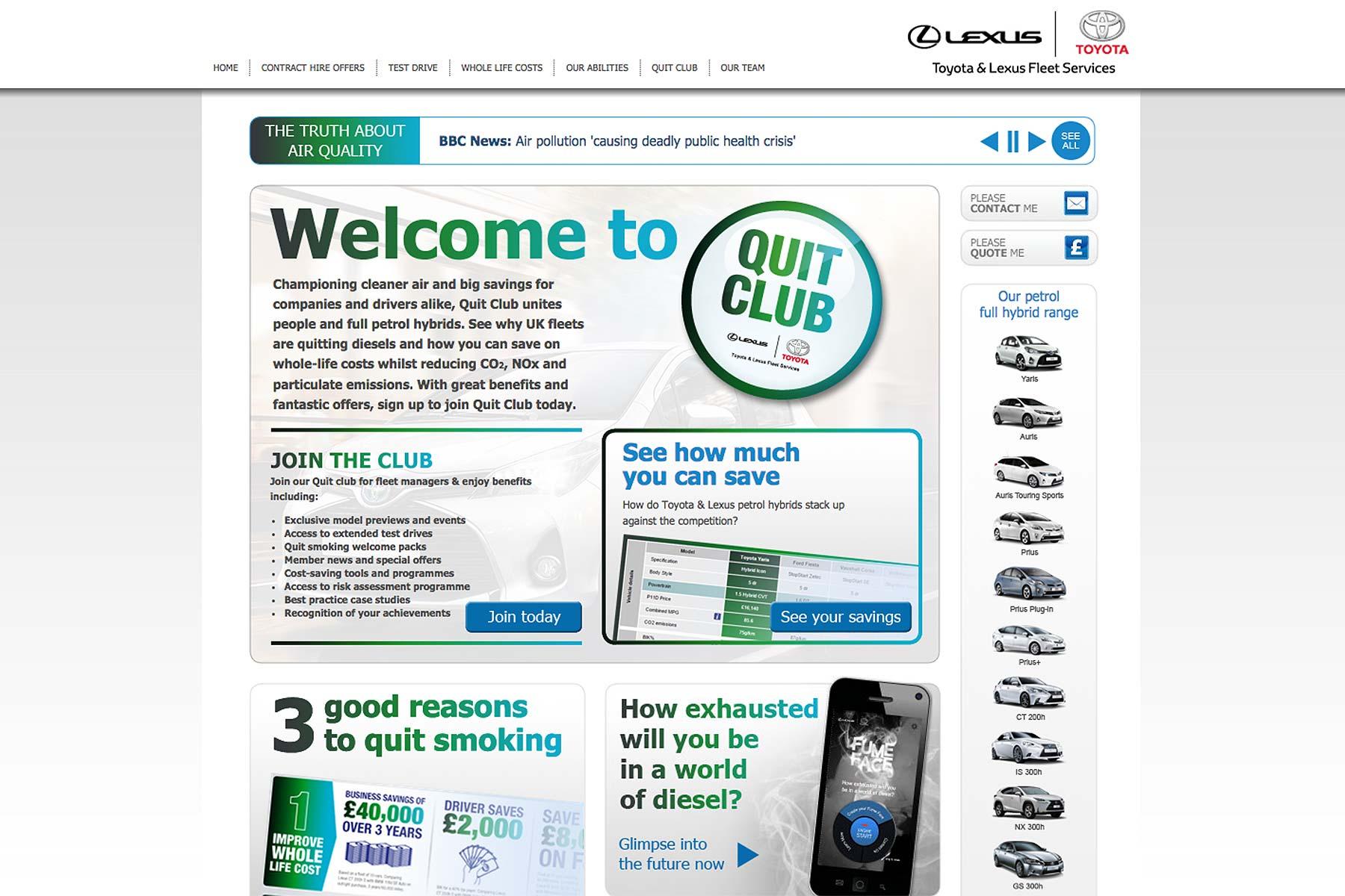 Toyota Lexus Quit Club