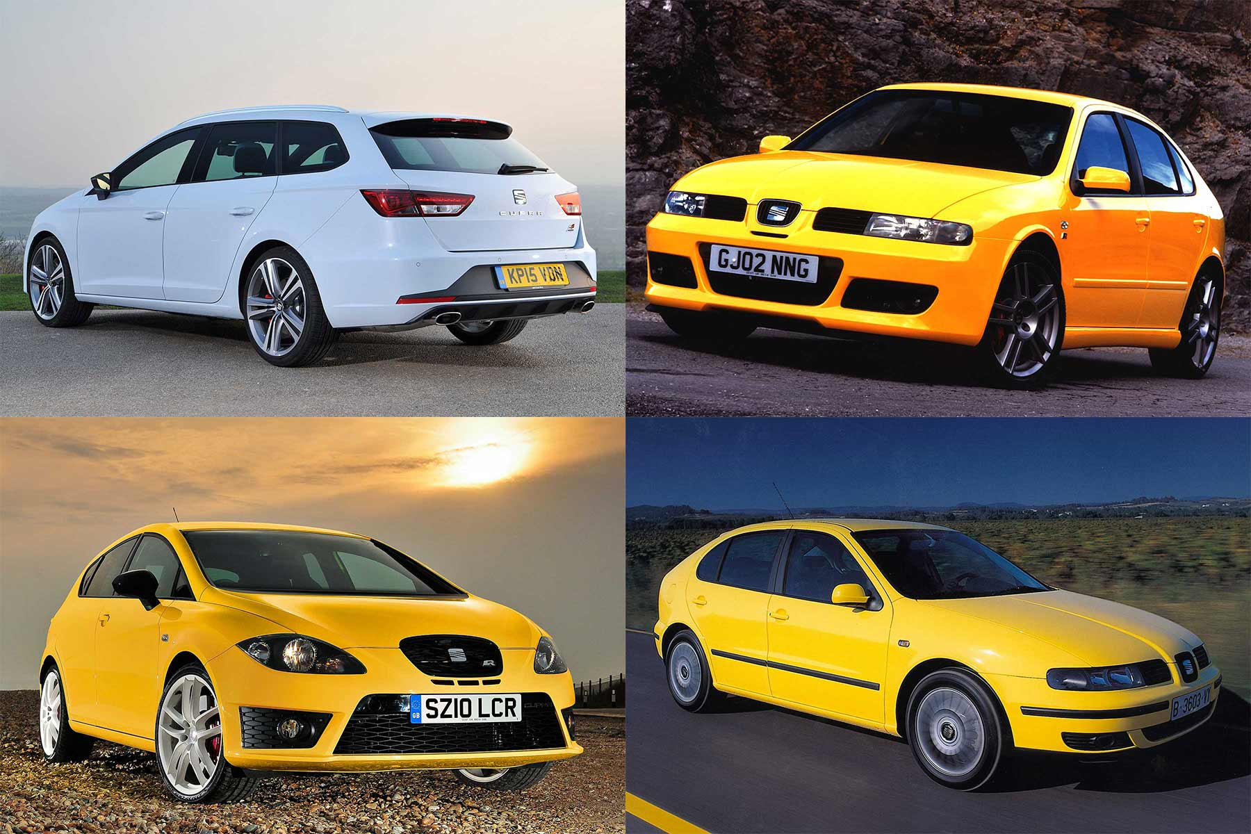 SEAT Leon Cupra yellow