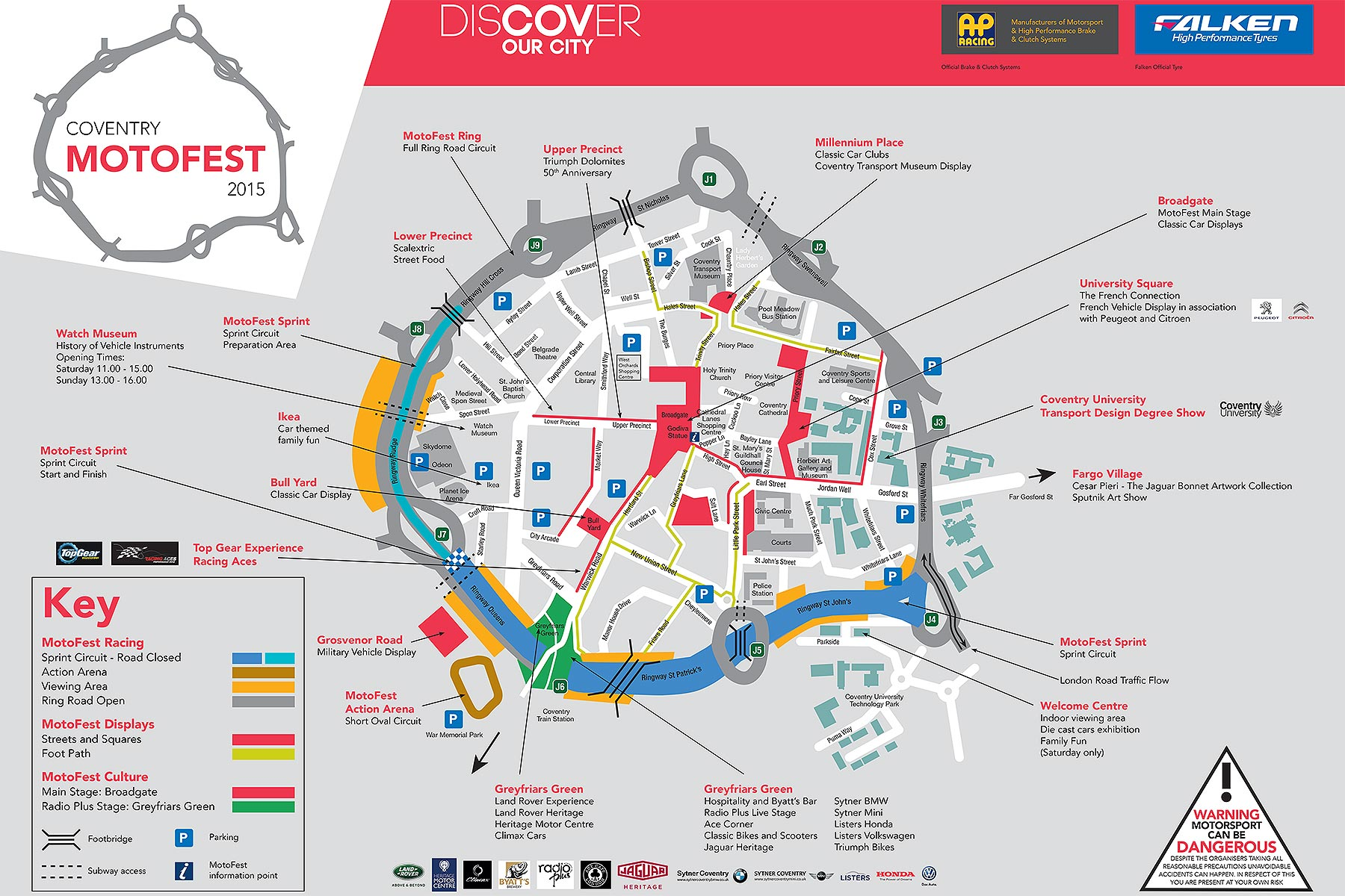 Coventry MotoFest 2015 map