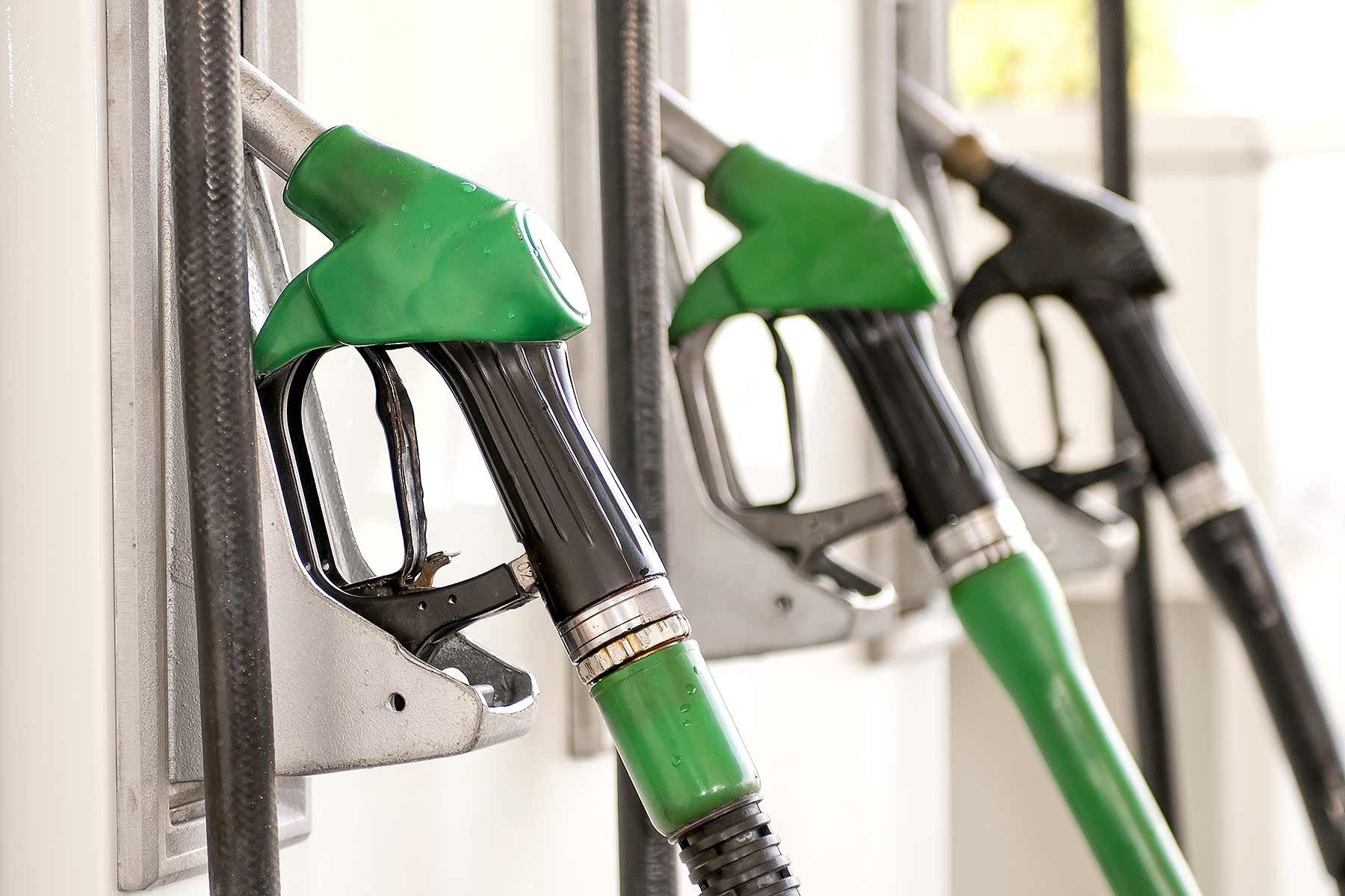Filling station pumps