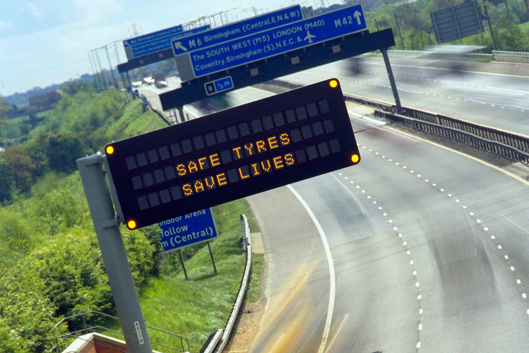 Free-flowing motorway traffic