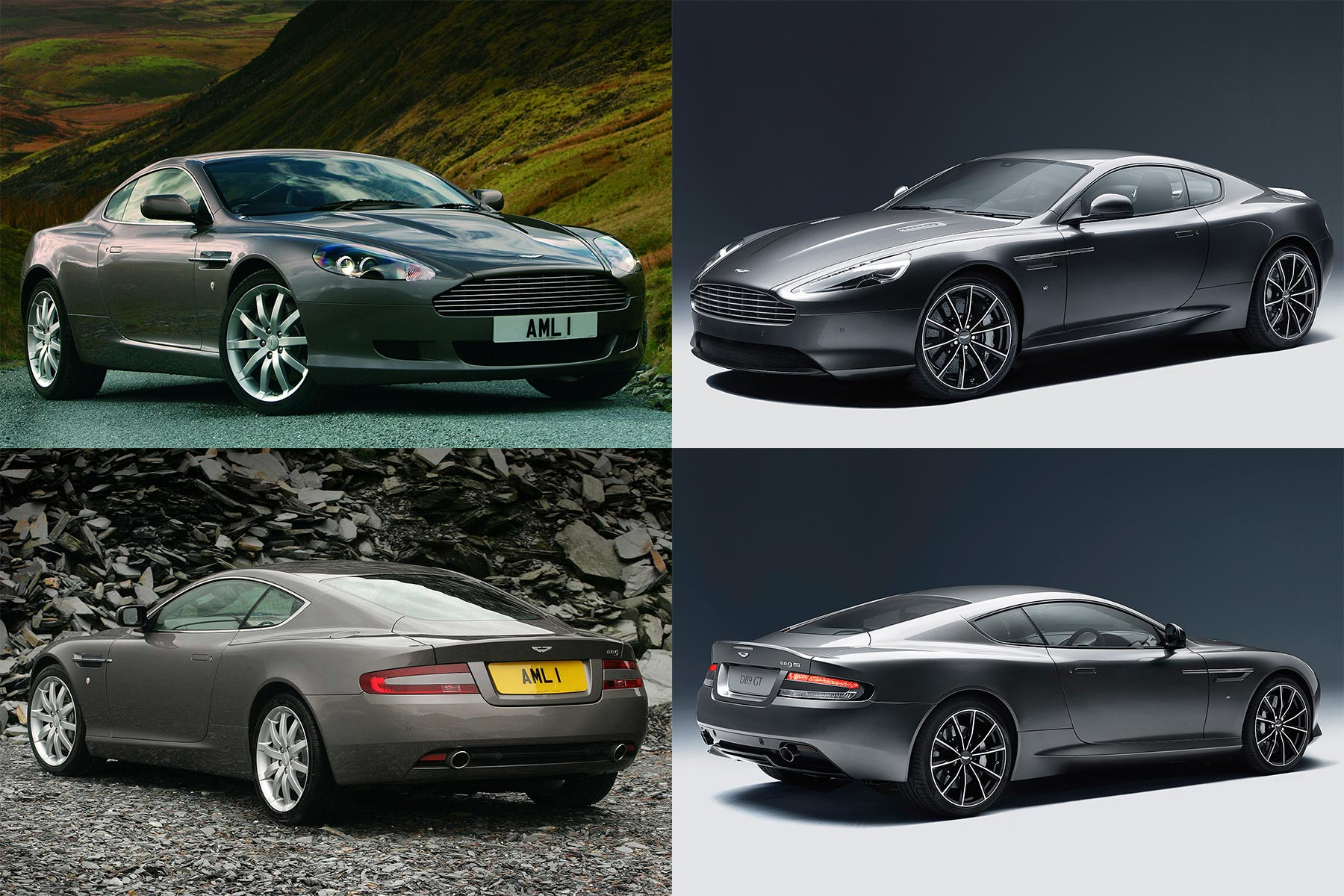 Aston Martin DB9 - then and now