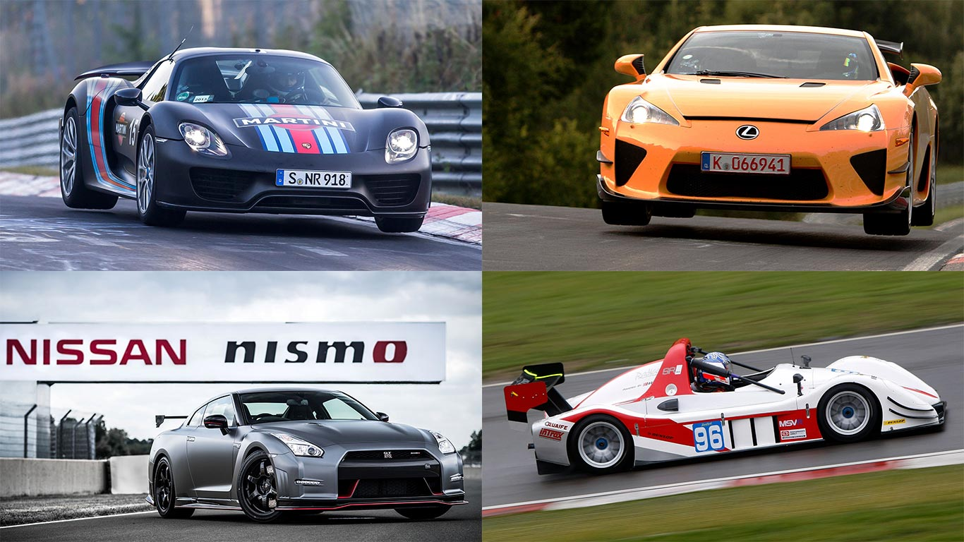 The fastest cars at the Nürburgring