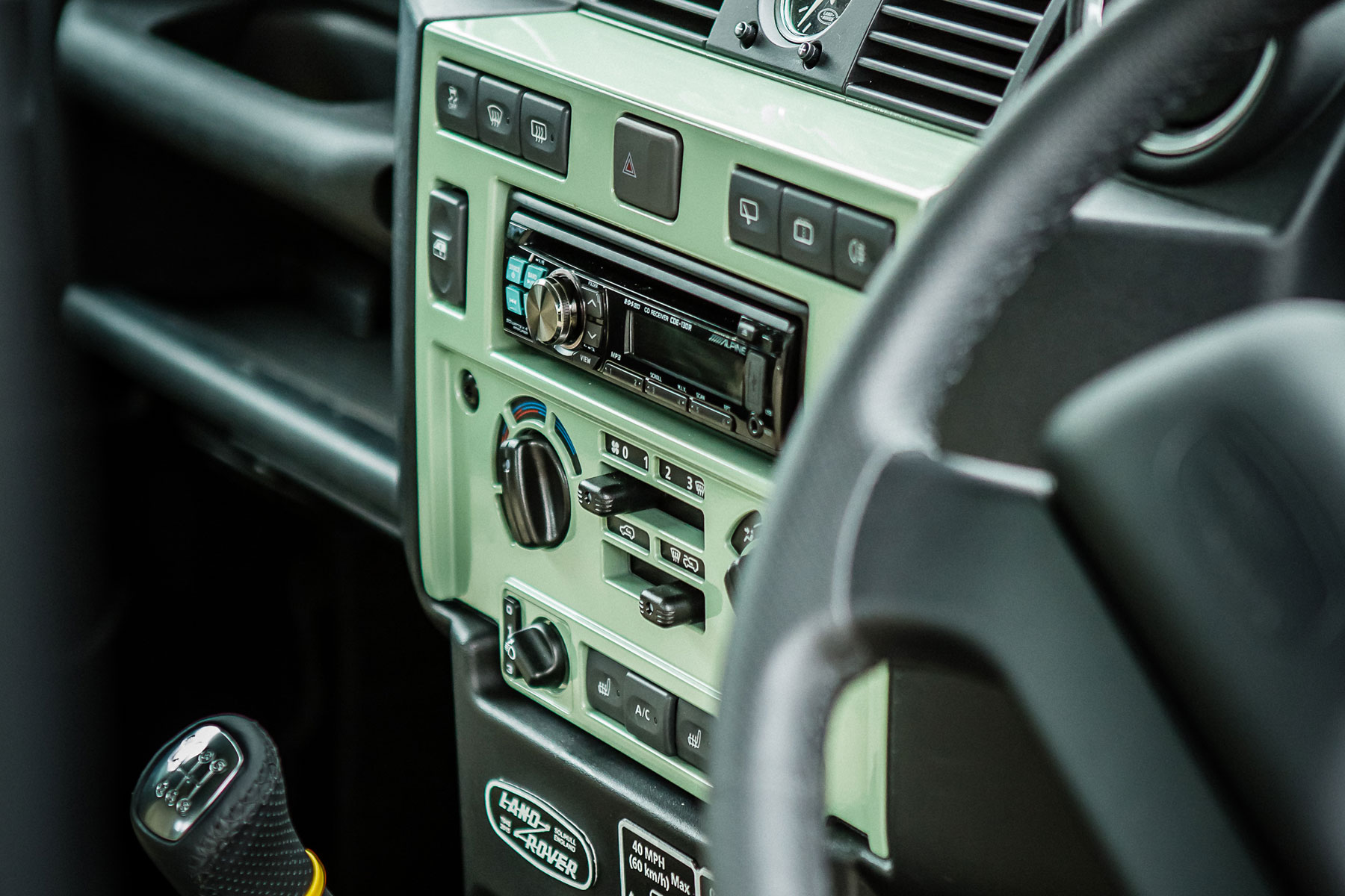 2015 Land Rover Defender Heritage: on the inside