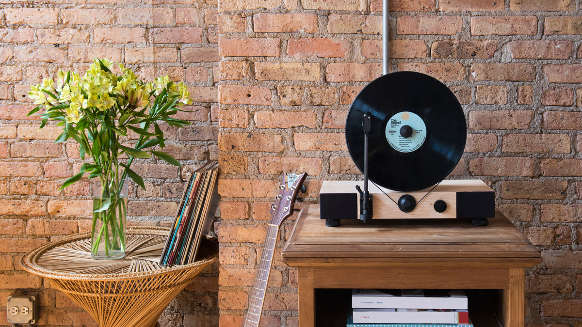 12 floating record vertical turntable