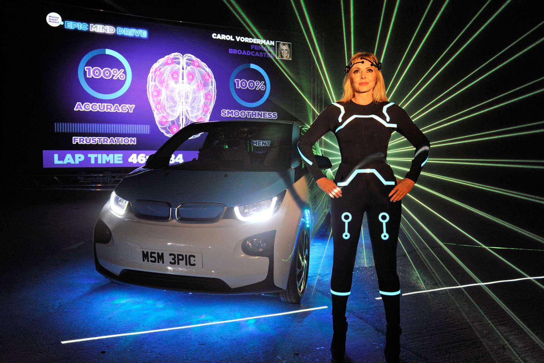 Carol Vorderman launches BMW i3 you can control with your MIND