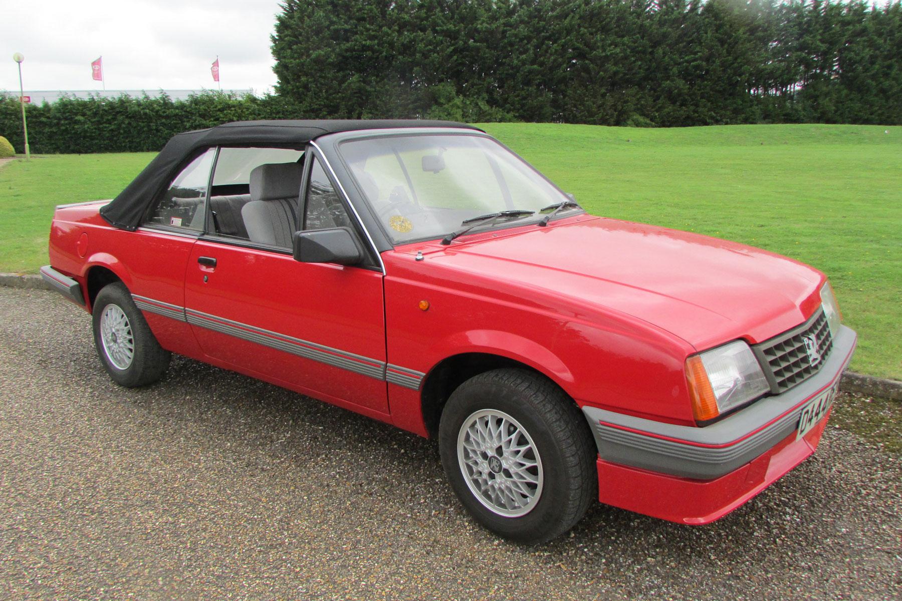 10: Vauxhall Cavalier convertible
