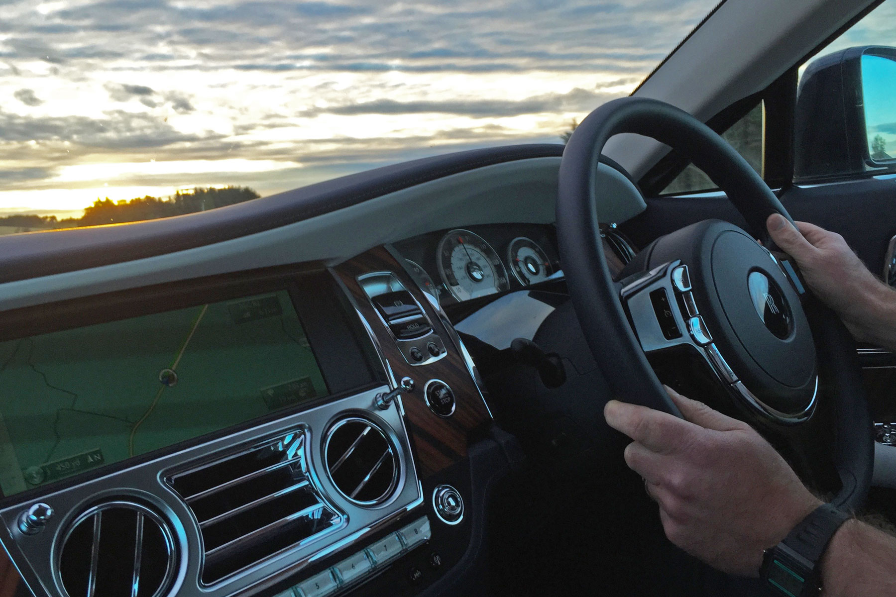 Rolls-Royce Wraith on the road