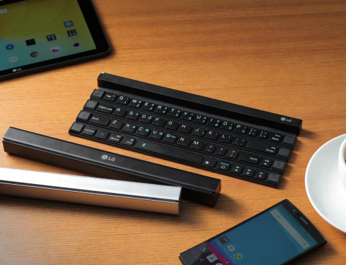 LG reveals 'rollable' portable keyboard
