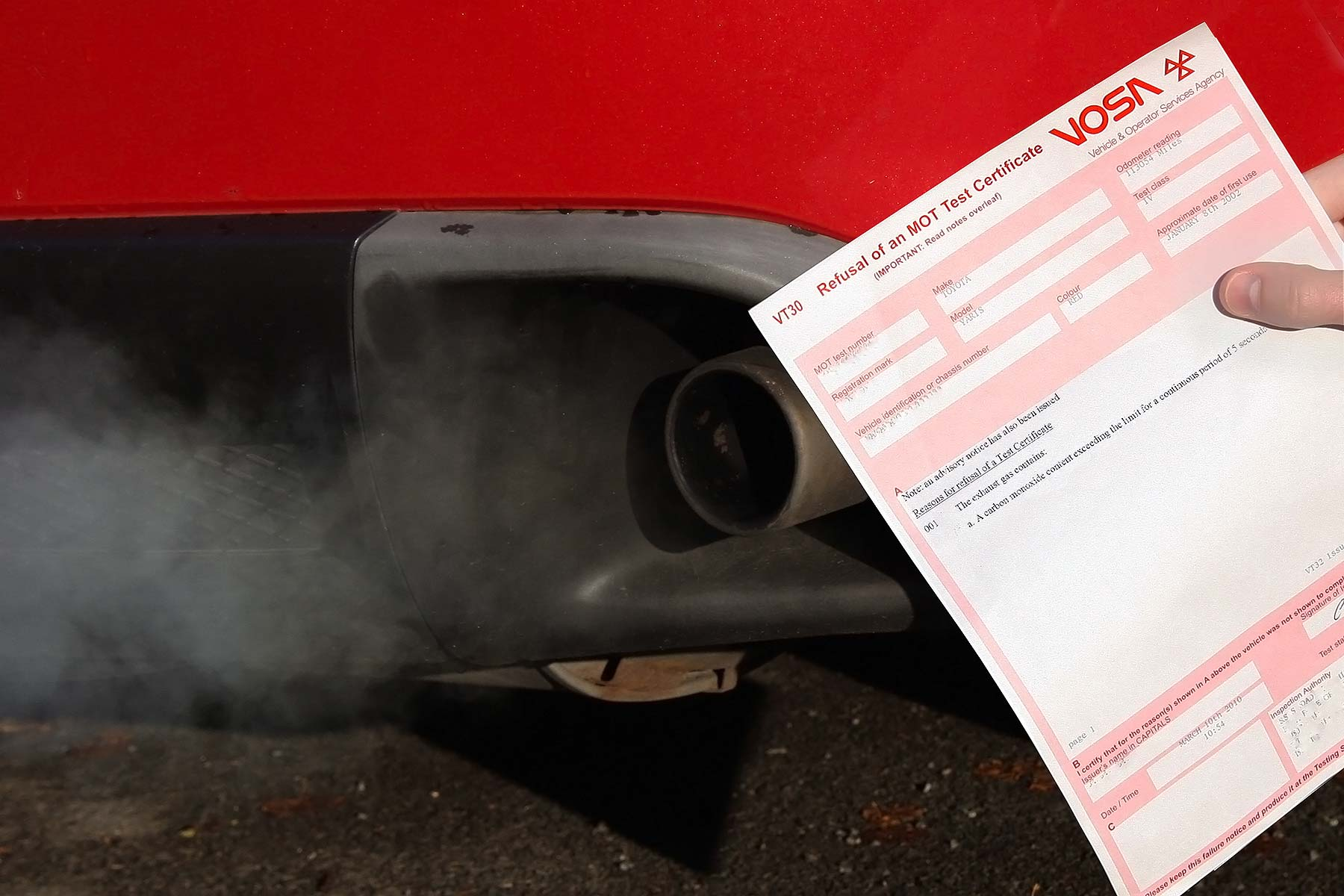 Motorists could be hit with fines following MoT meltdown