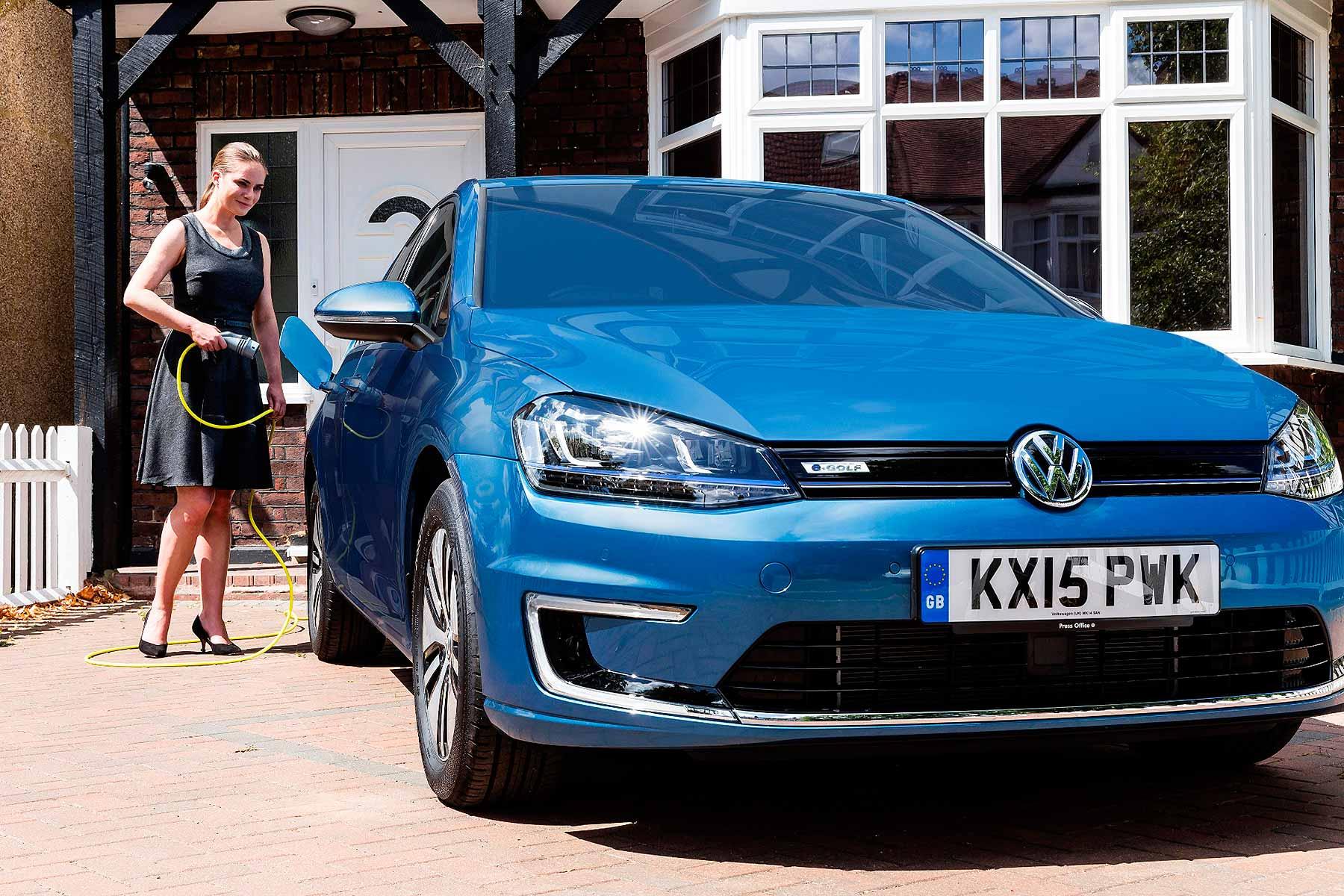 Volkswagen e-Golf home charging