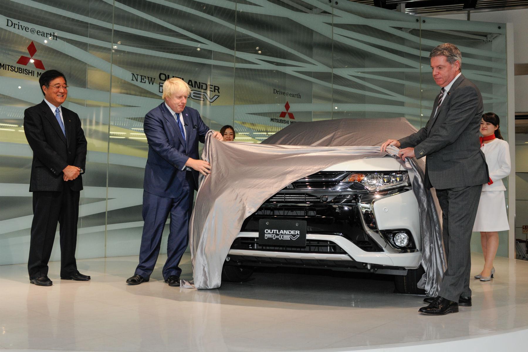 Boris Johnson takes covers off new Mitsubishi Outlander PHEV