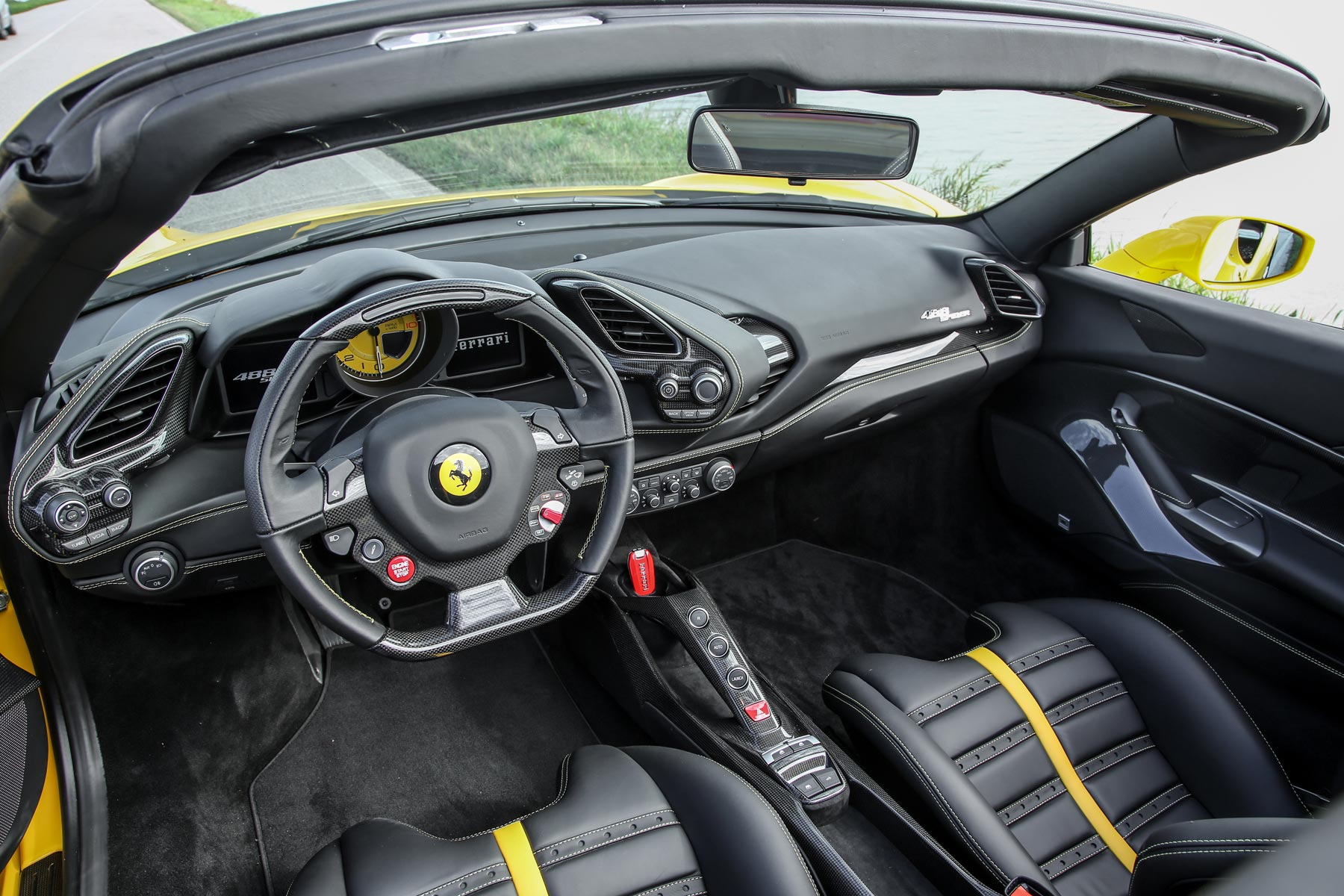 2016 Ferrari 488 Spider: On the inside