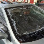 Driver caught with windscreen held together using SELLOTAPE