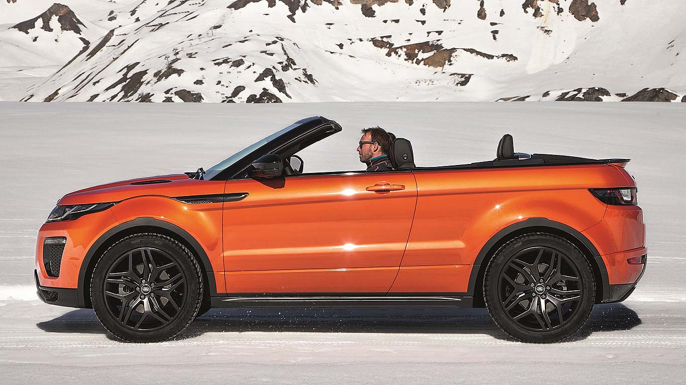 revealed 2016 range rover evoque convertible is world s first premium compact suv drop top. Black Bedroom Furniture Sets. Home Design Ideas