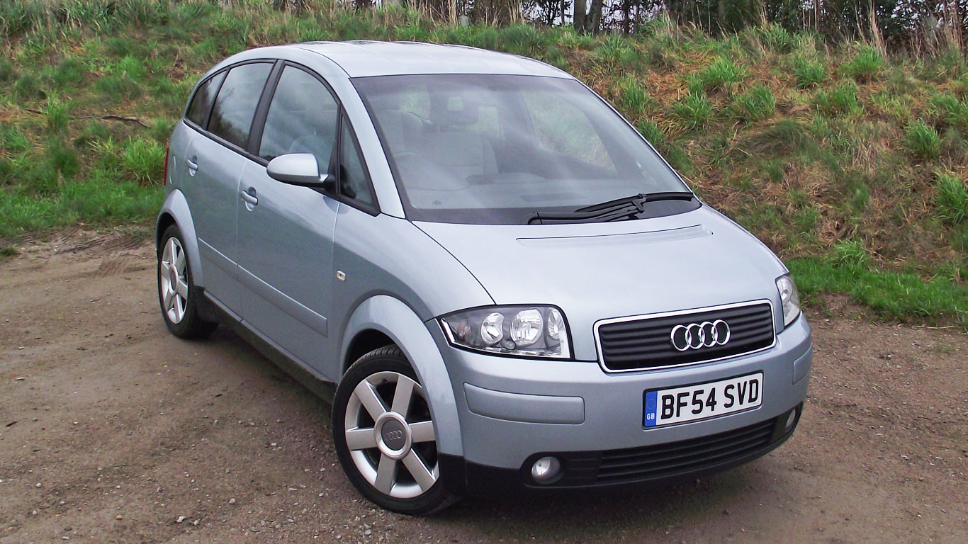 retro road test audi a2 motoring research. Black Bedroom Furniture Sets. Home Design Ideas