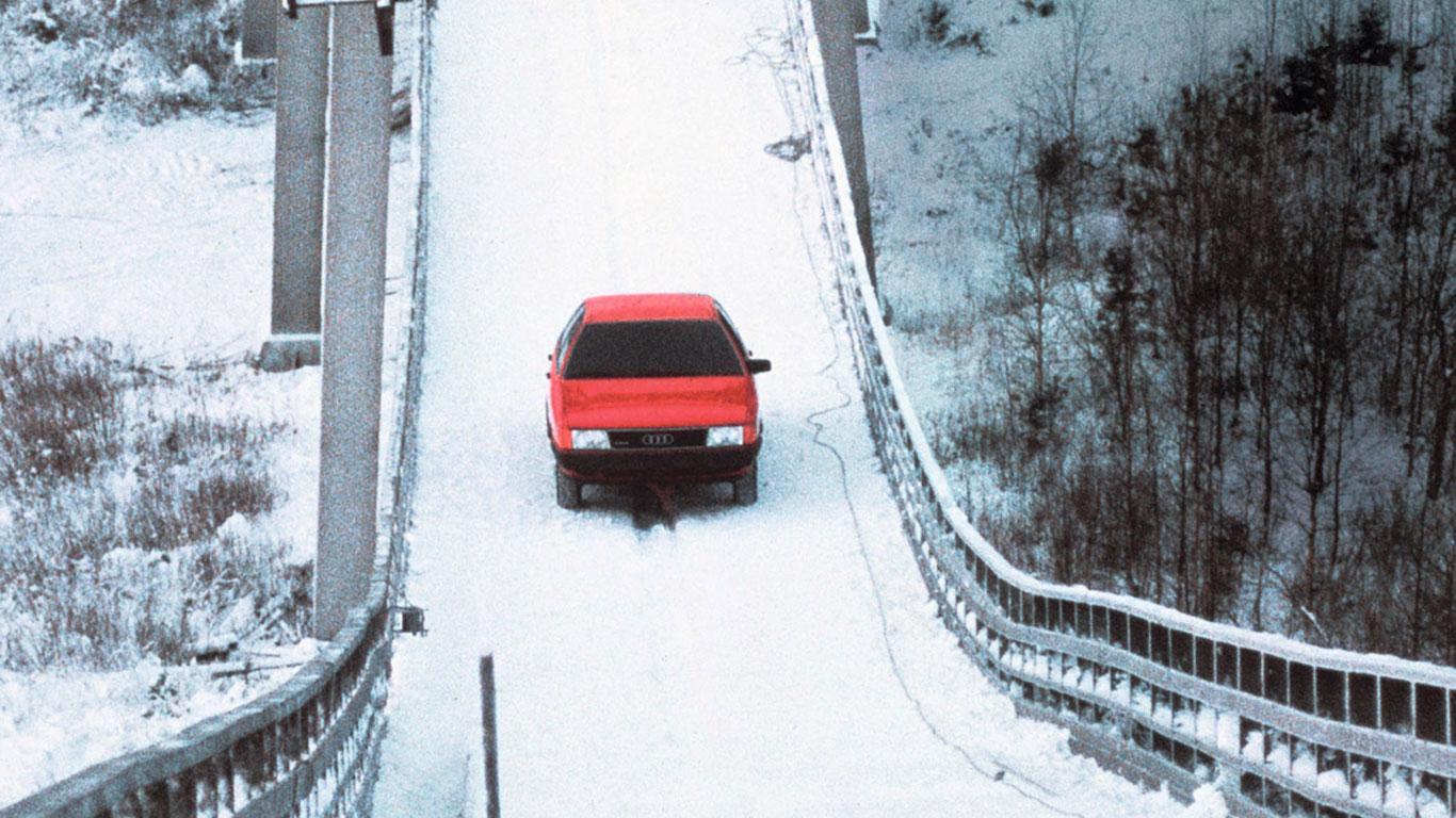 Audi 100 CS quattro ski jump