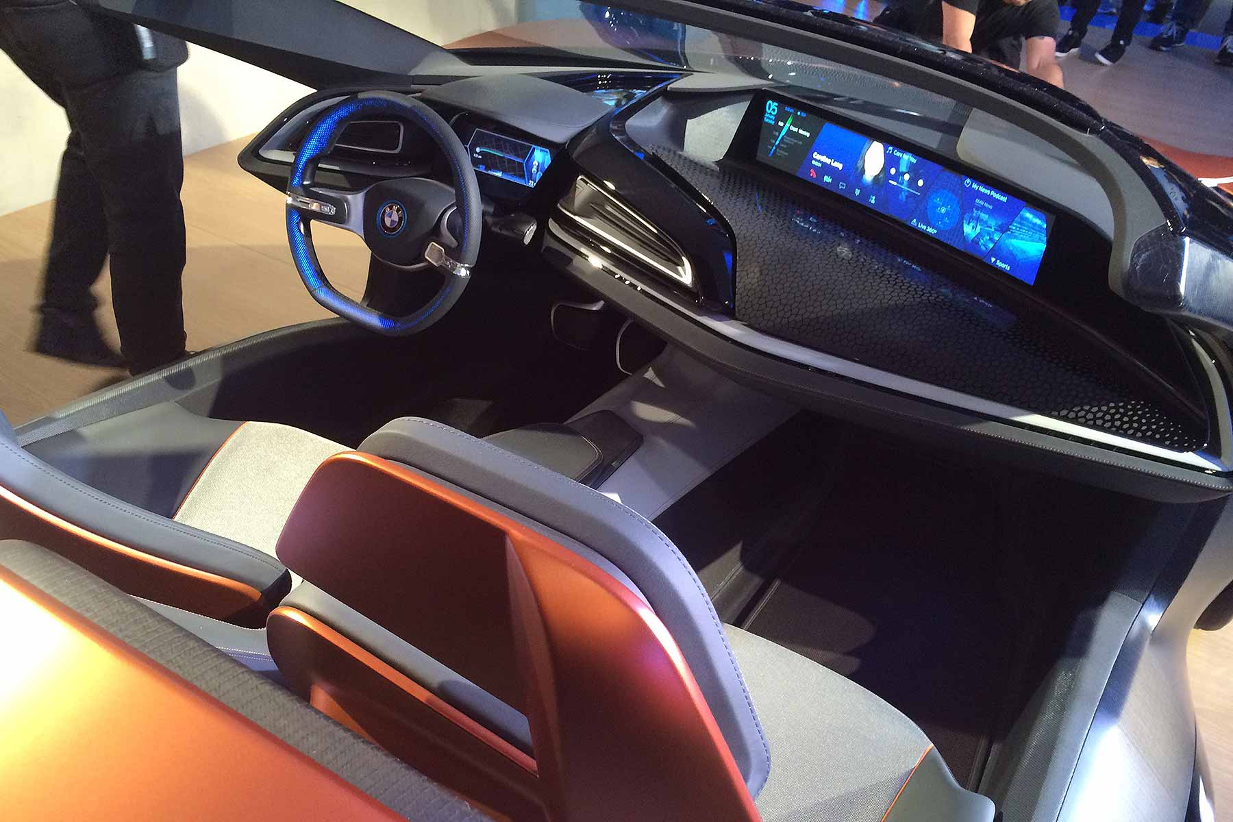 ces 2016 bmw s 39 i vision 39 of life beyond touchscreens motoring research. Black Bedroom Furniture Sets. Home Design Ideas