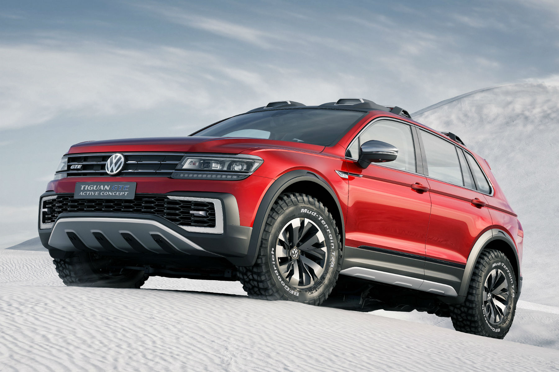 Detroit 2016: This is what a VW Tiguan GTE looks like as a serious off-roader