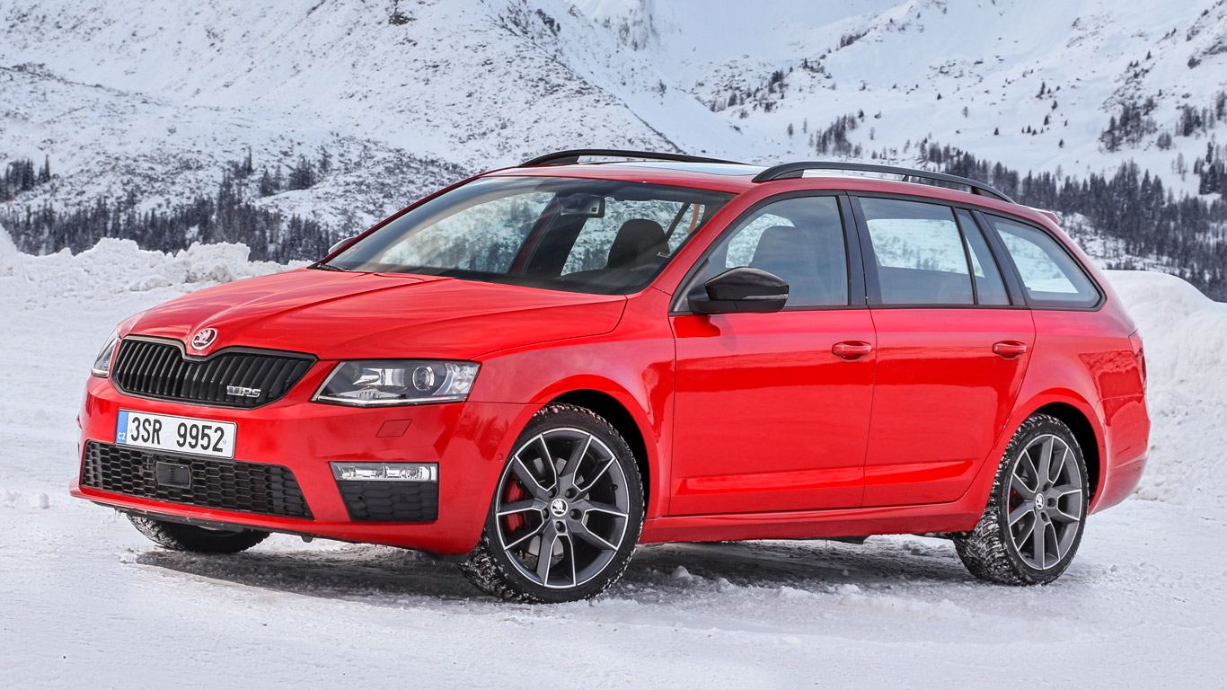 skoda octavia 4x4 vrs two minute road test winter special. Black Bedroom Furniture Sets. Home Design Ideas