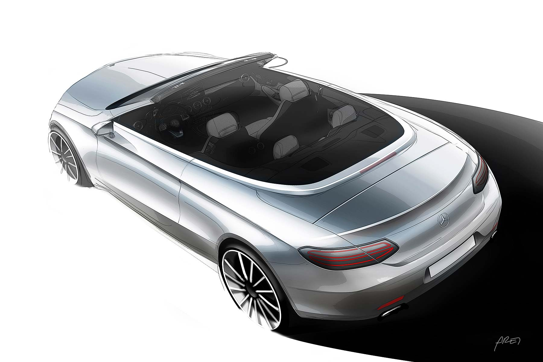 Mercedes-Benz C-Class Cabriolet design sketch