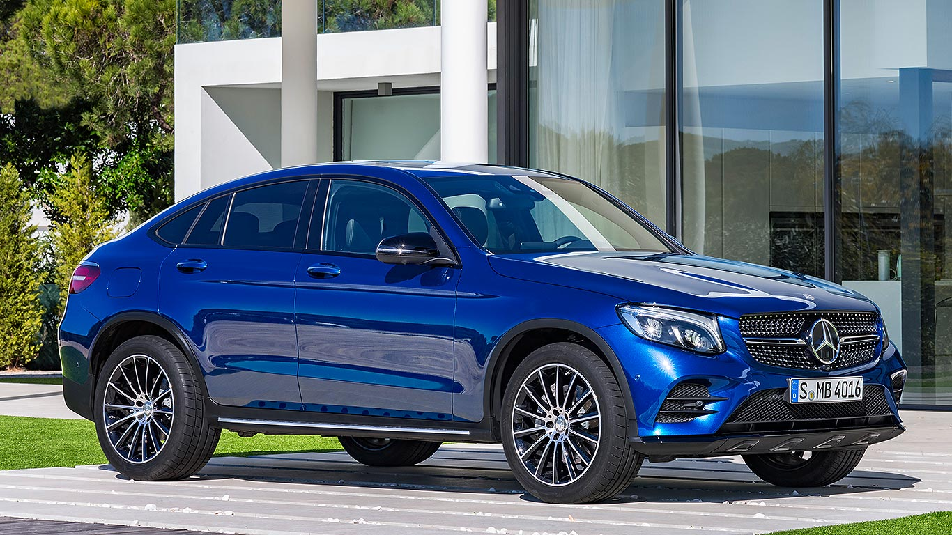 2016 mercedes benz glc coupe revealed in new york motoring research. Black Bedroom Furniture Sets. Home Design Ideas