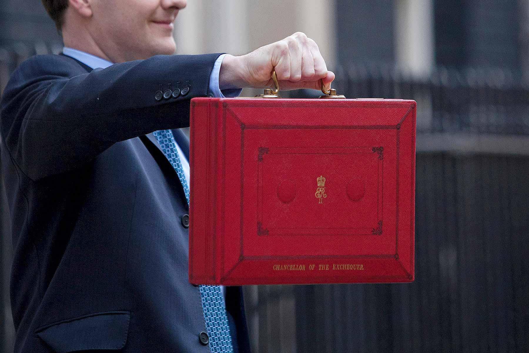 Chancellor George Osborne Budget red box