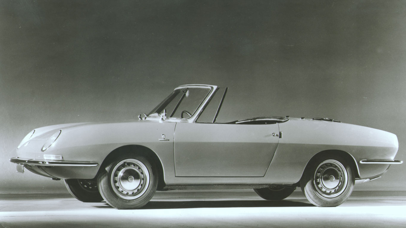 1969 Fiat 850 Spider: 219% growth