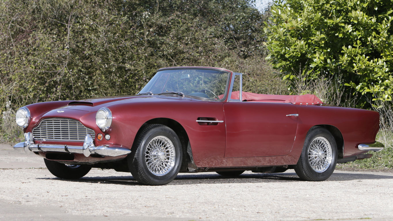 1962 Aston Martin DB4 Vantage convertible: 329% growth