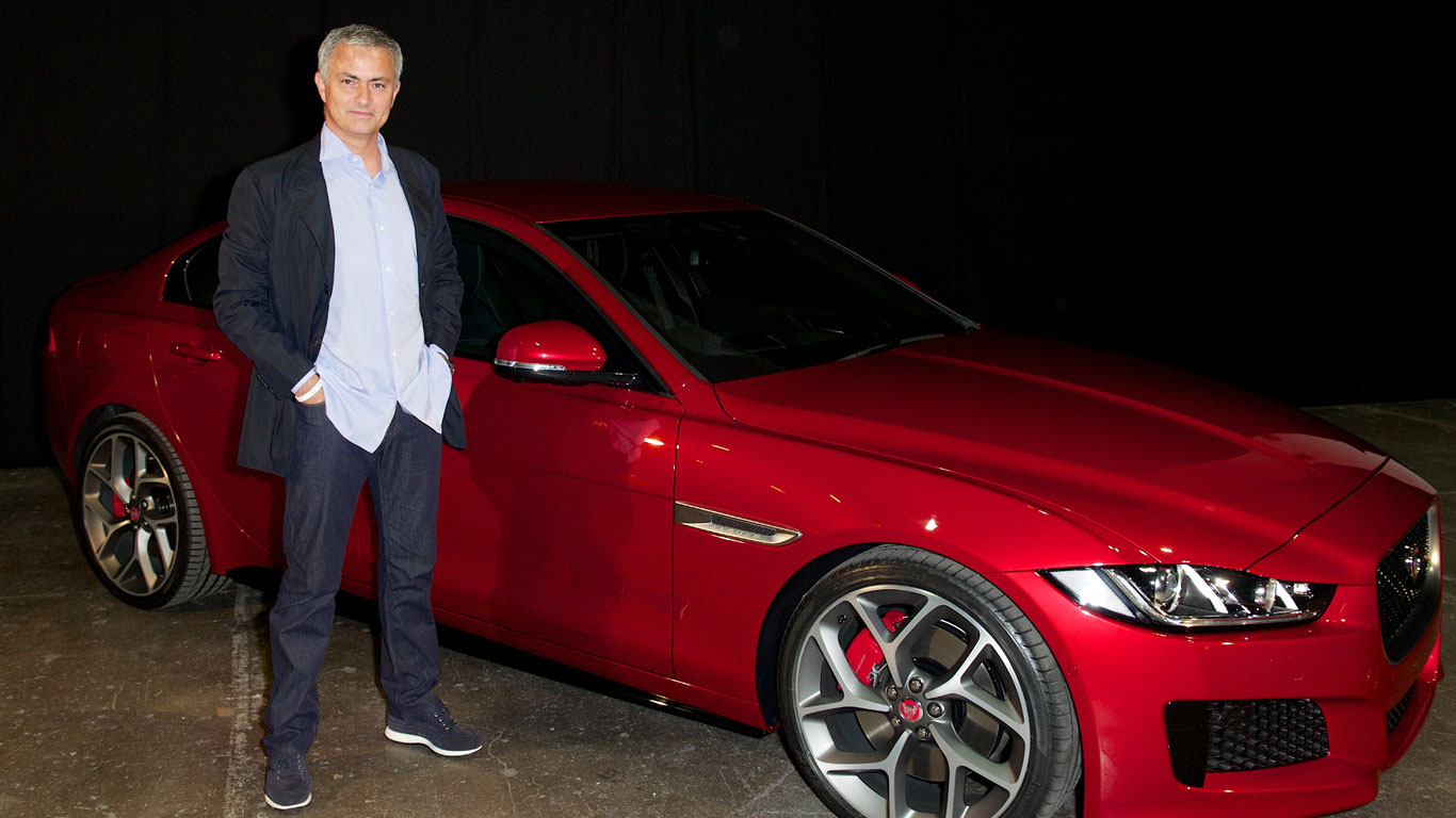 Jose Mourinho And Manchester United Held Up By A Jaguar
