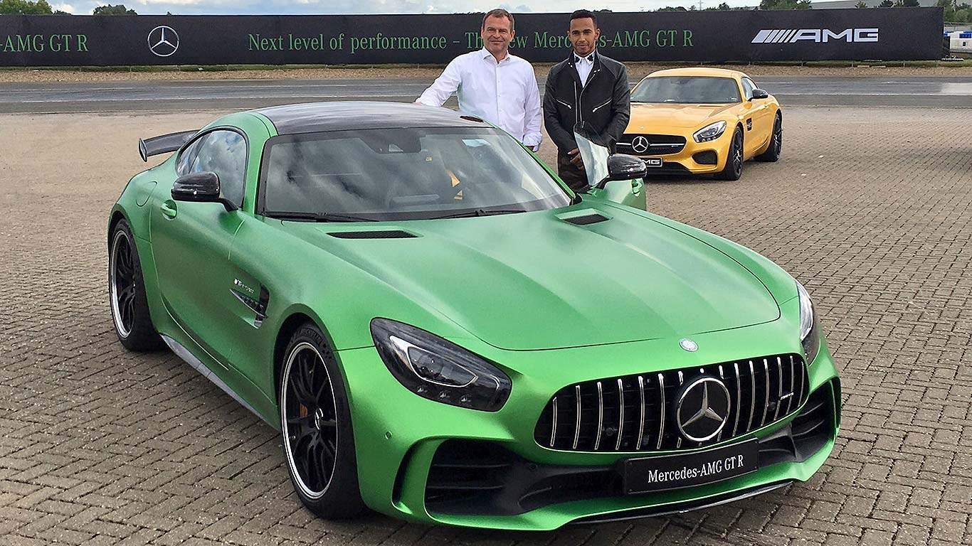 lewis hamilton reveals new mercedes amg gt r motoring research. Black Bedroom Furniture Sets. Home Design Ideas