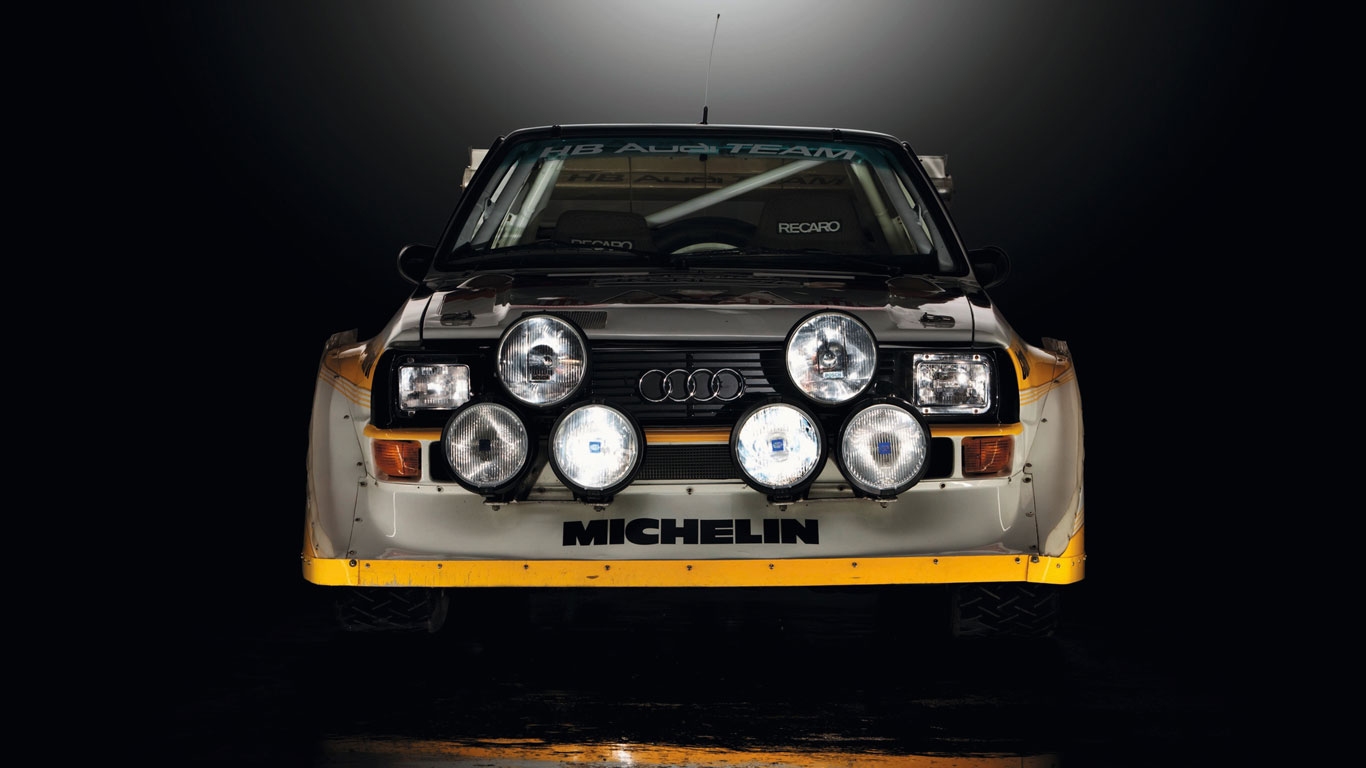 Group B Audi Quattro rally cars